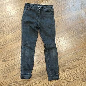 Outland Denim Isabel Black Skinny Jeans